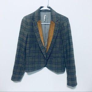 Willow & Clay Anthropologie Tweed Wool Blazer